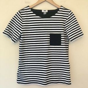 Old Navy Short Sleeve Crew Neck Top Striped 552
